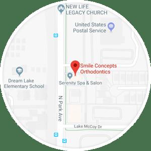 Maps Horizontal Smile Concepts Orthodontics in Apopka, FL